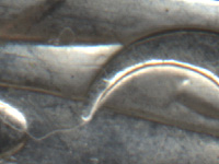 Section of 20 cent piece