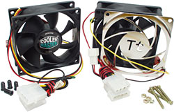 Thermally controlled fans