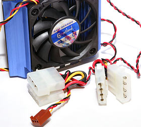 Fan power connectors