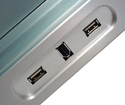 Front USB and FireWire ports