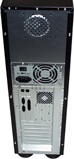 Tower case back panel