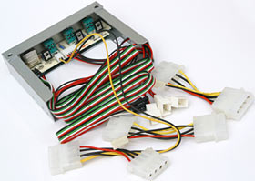 Fan controller with cables