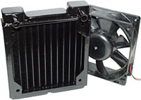 Black Ice radiator and fan