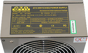 AP-500X specifications label