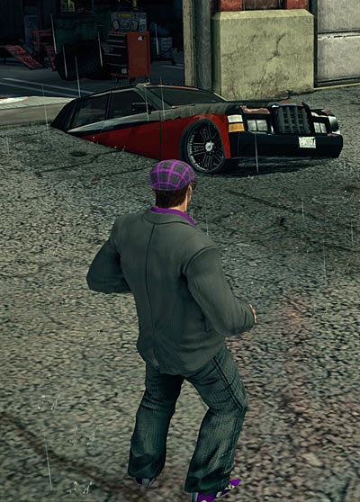 Car stuck in ground in Saints Row 3