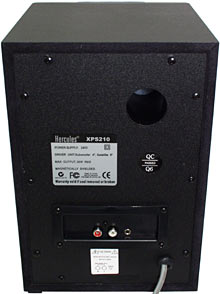 XPS 210 subwoofer back panel