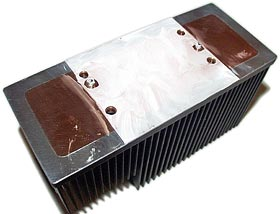 Greased heat sink