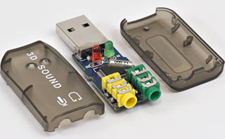 Cheap USB sound dongle in pieces