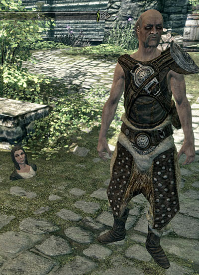 NPC in the ground in Skyrim