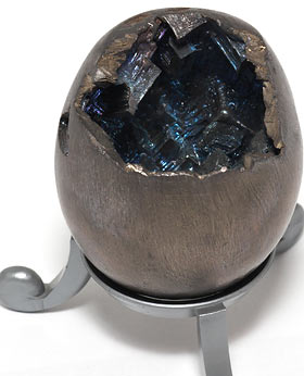 Bismuth egg in normal lighting